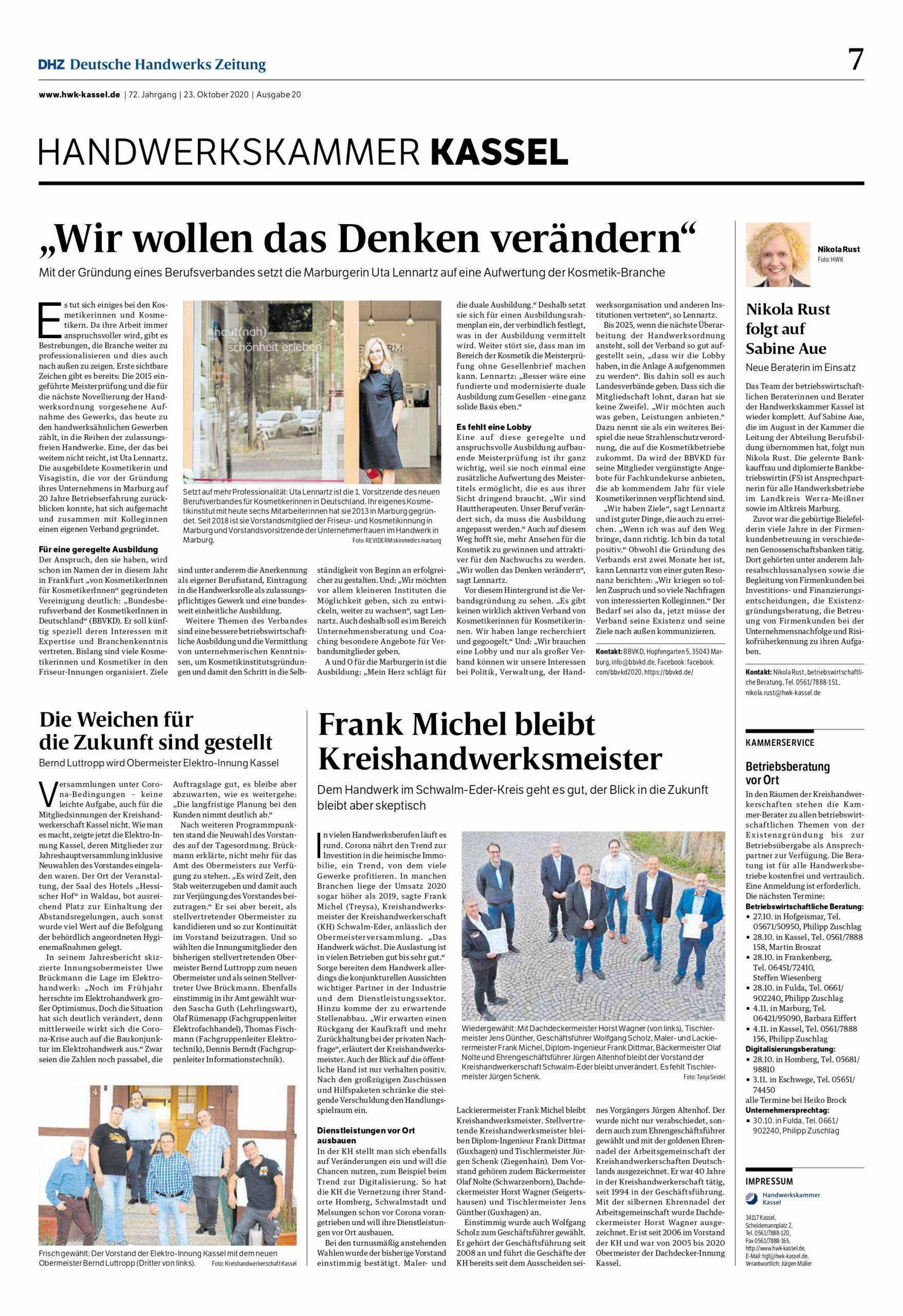 """Featured image for """"Deutsche Handwerks Zeitung vom 23.10.2020, Ausgabe 20, Oktober"""""""