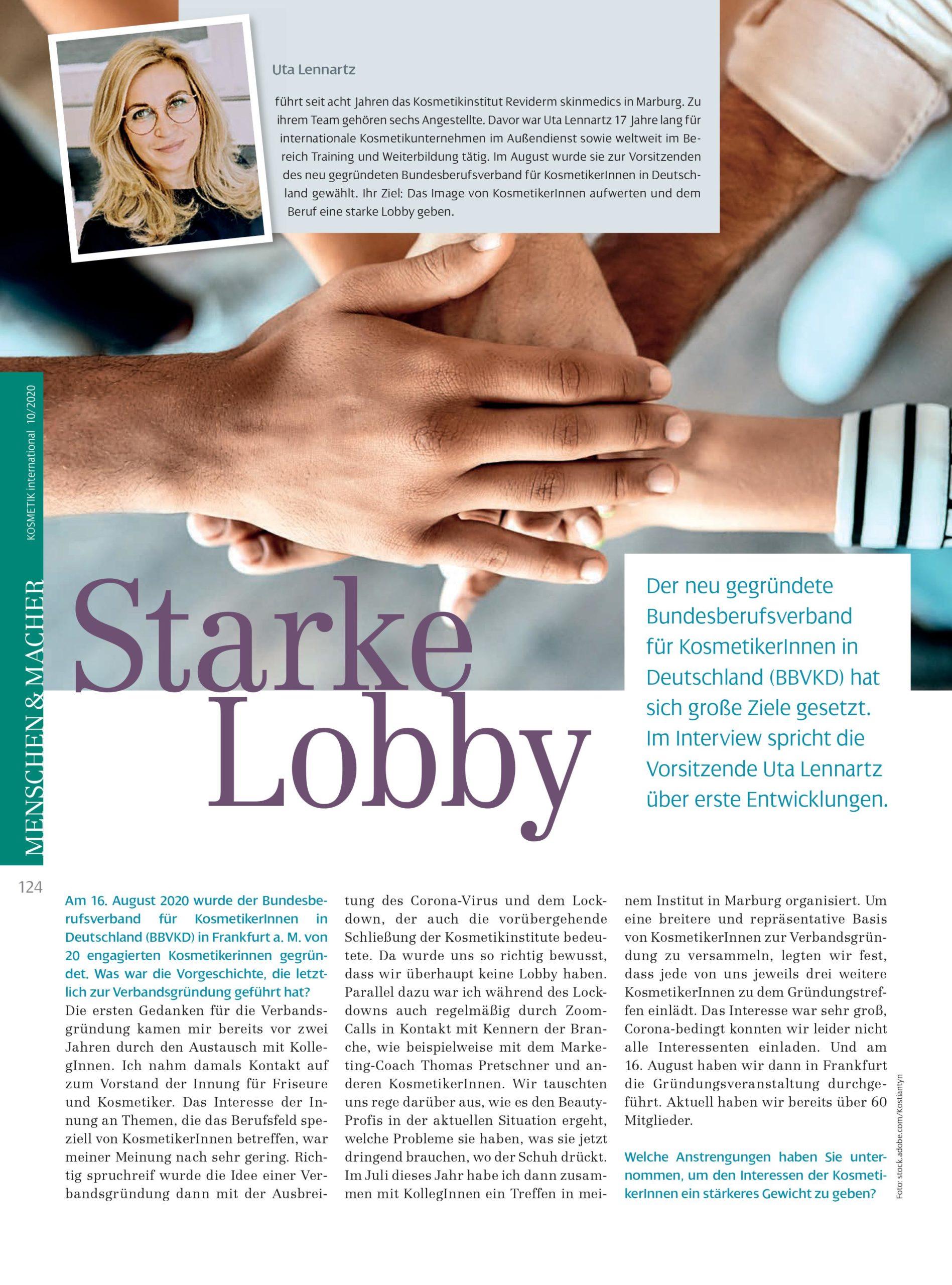 "Featured image for ""Kosmetik international Ausgabe 10/2020, ""Starke Lobby"", Oktober"""